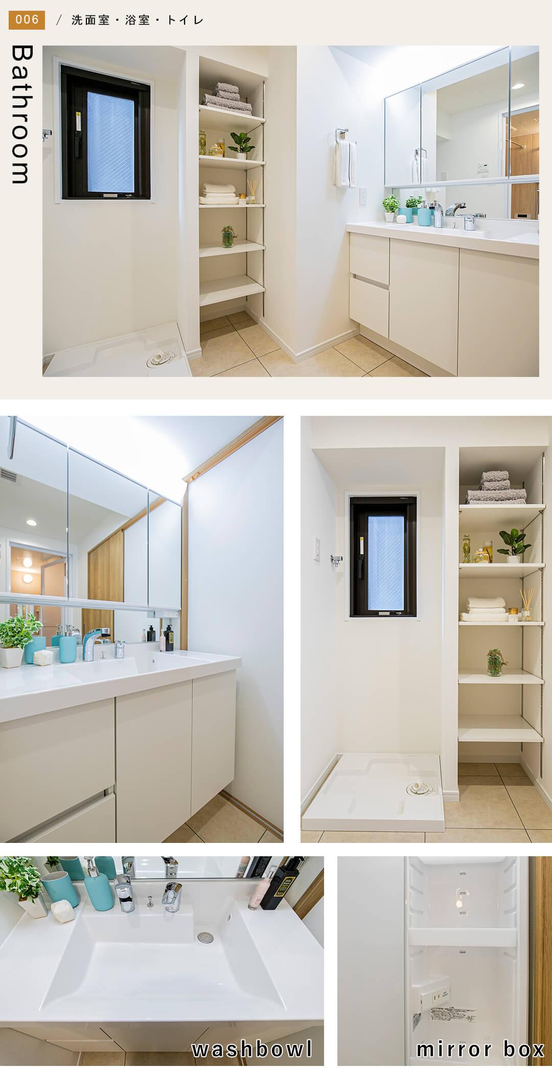 グリーンパーク日本橋ドゥの洗面室