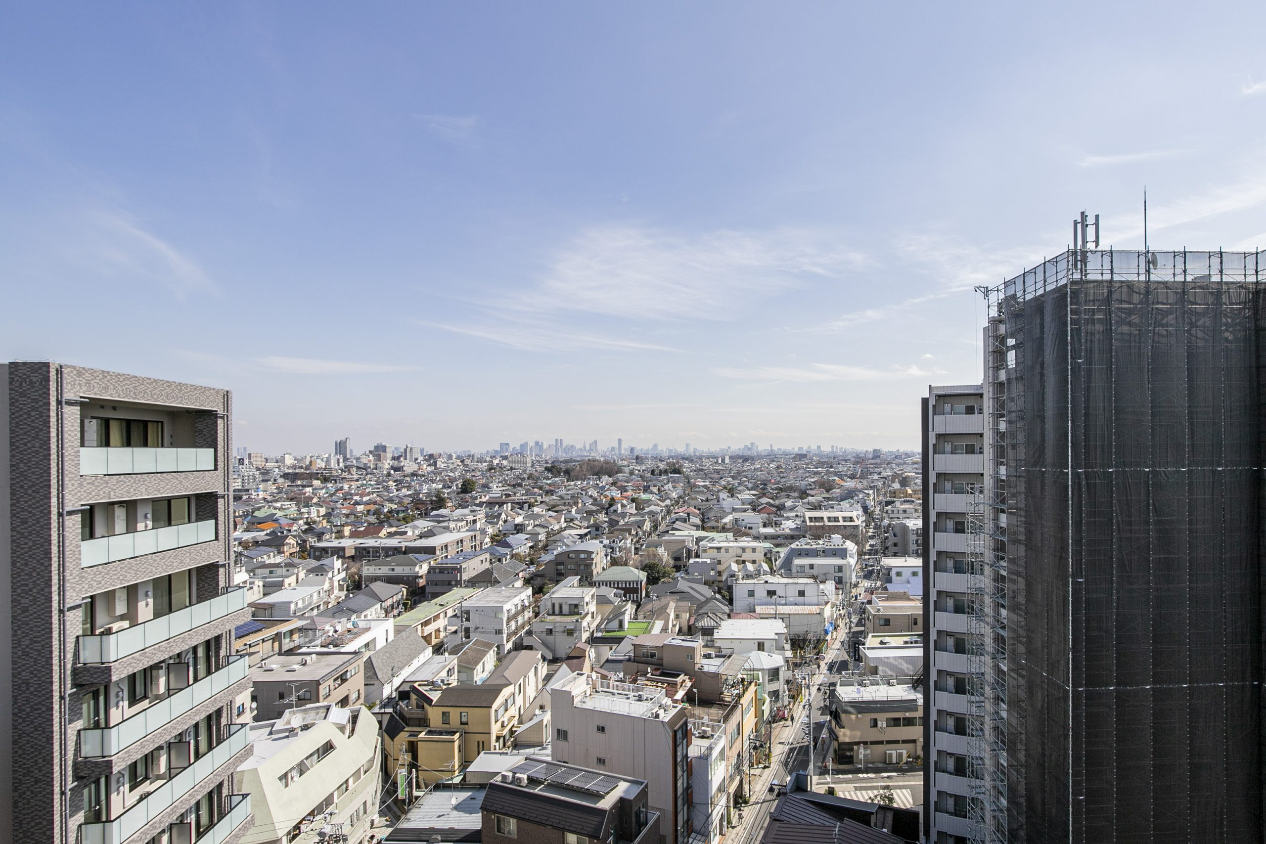 西荻窪 13階からの抜ける眺望