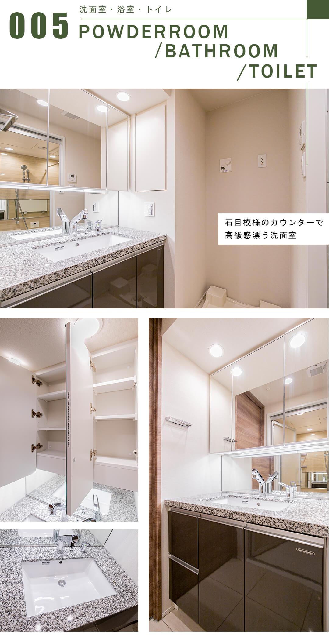 オープンレジデンシア千駄木の洗面室