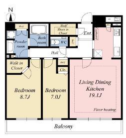 品川 お気に入りの家具で住まいを彩る 間取り図