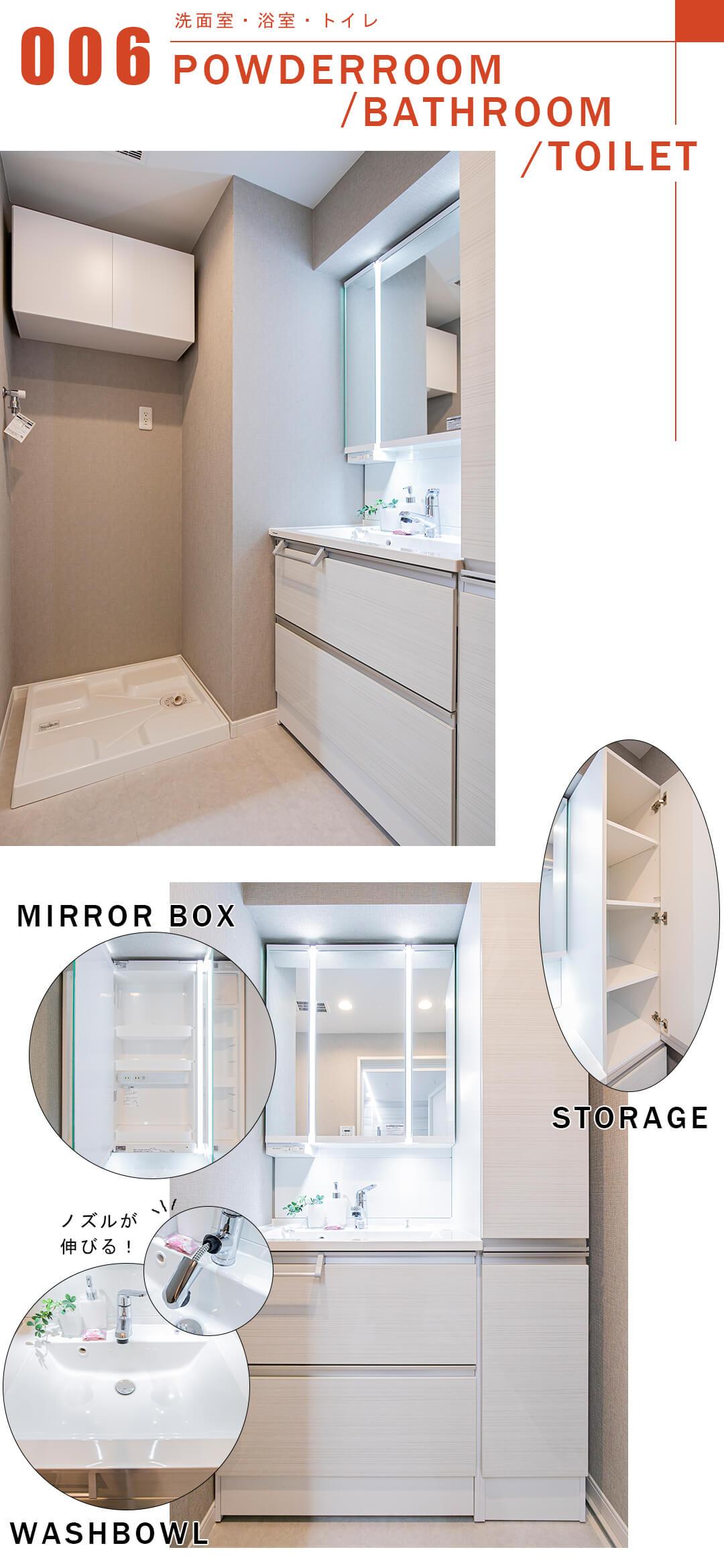 朝日シティパリオ西早稲田館の洗面室