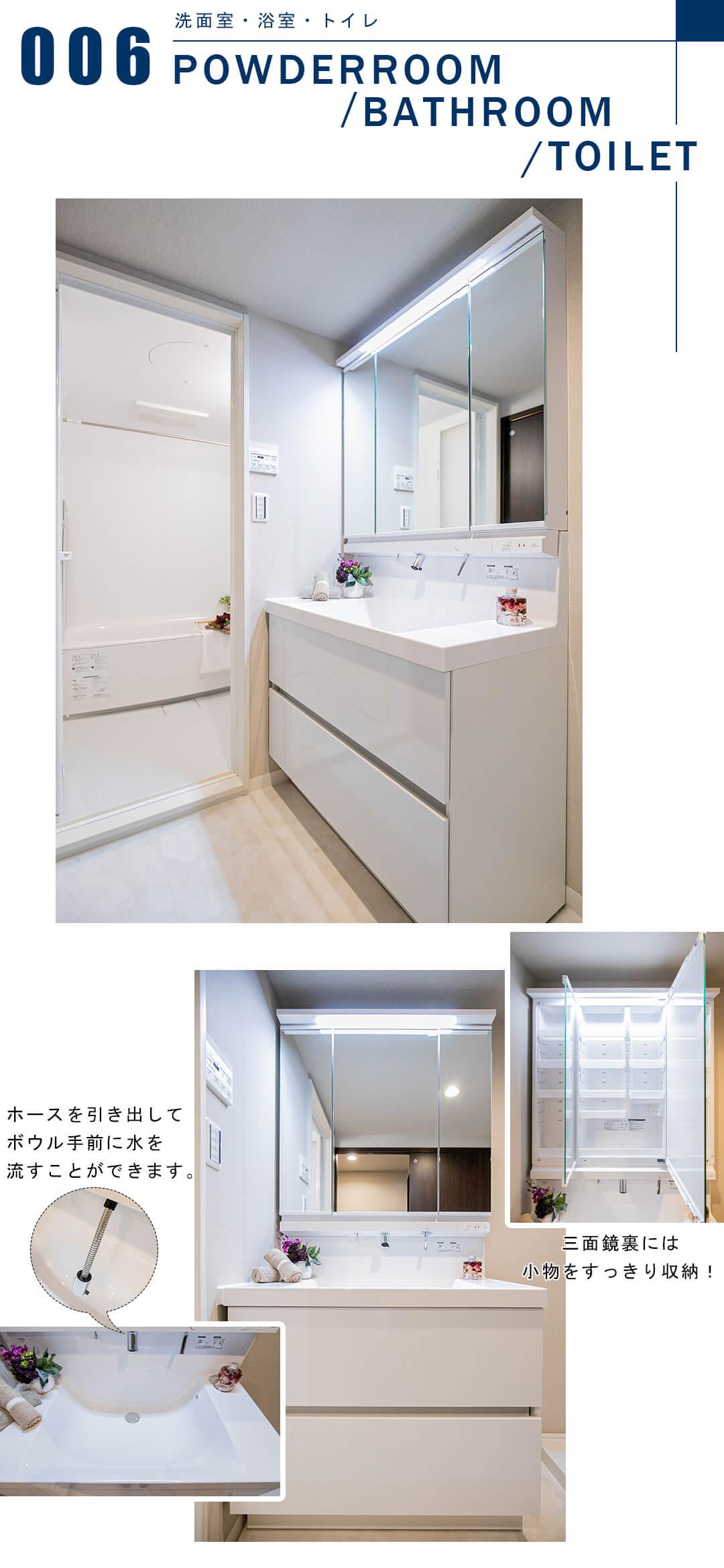 メゾンエクレーレ新宿西戸山の洗面室