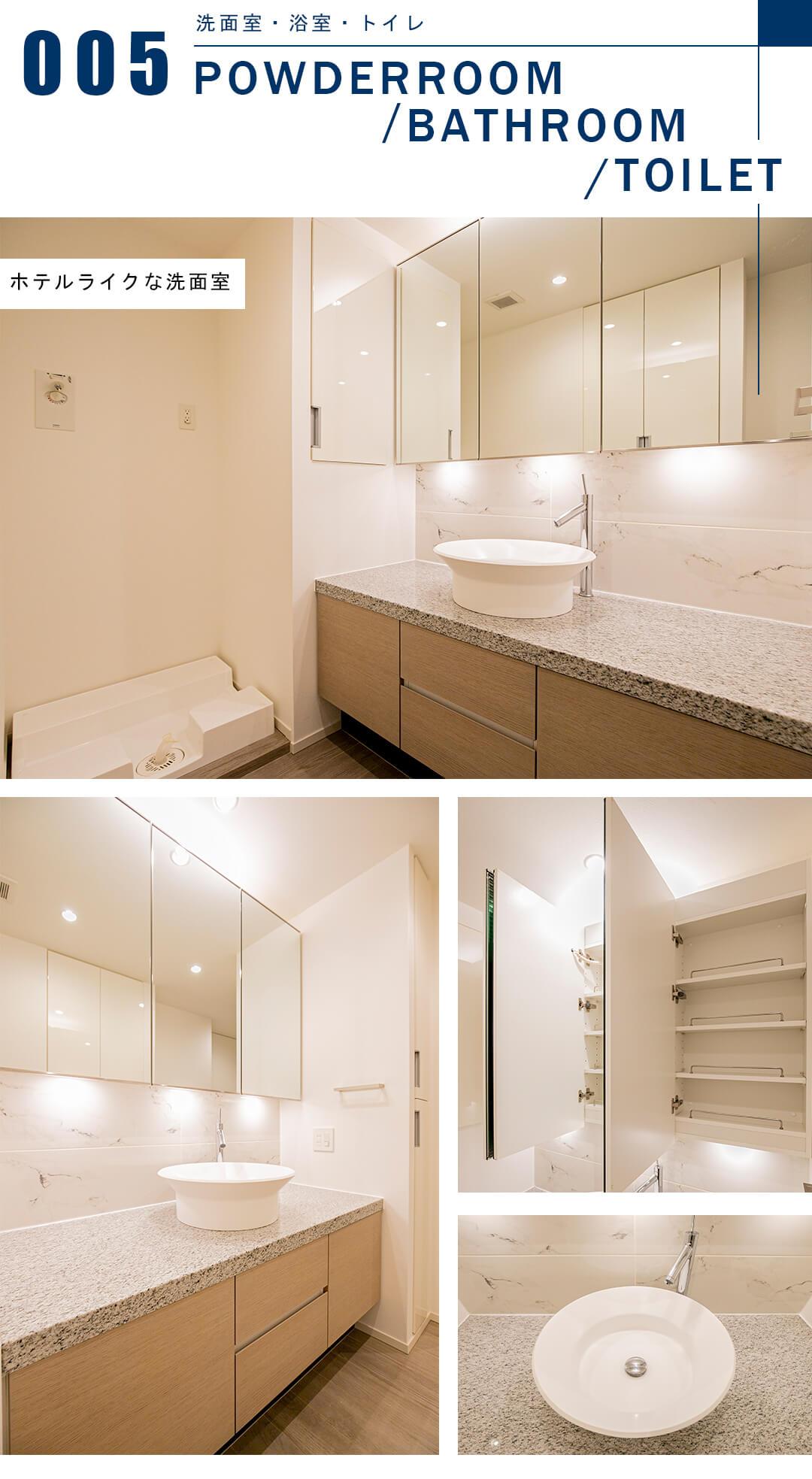 プレミスト六番町の洗面室