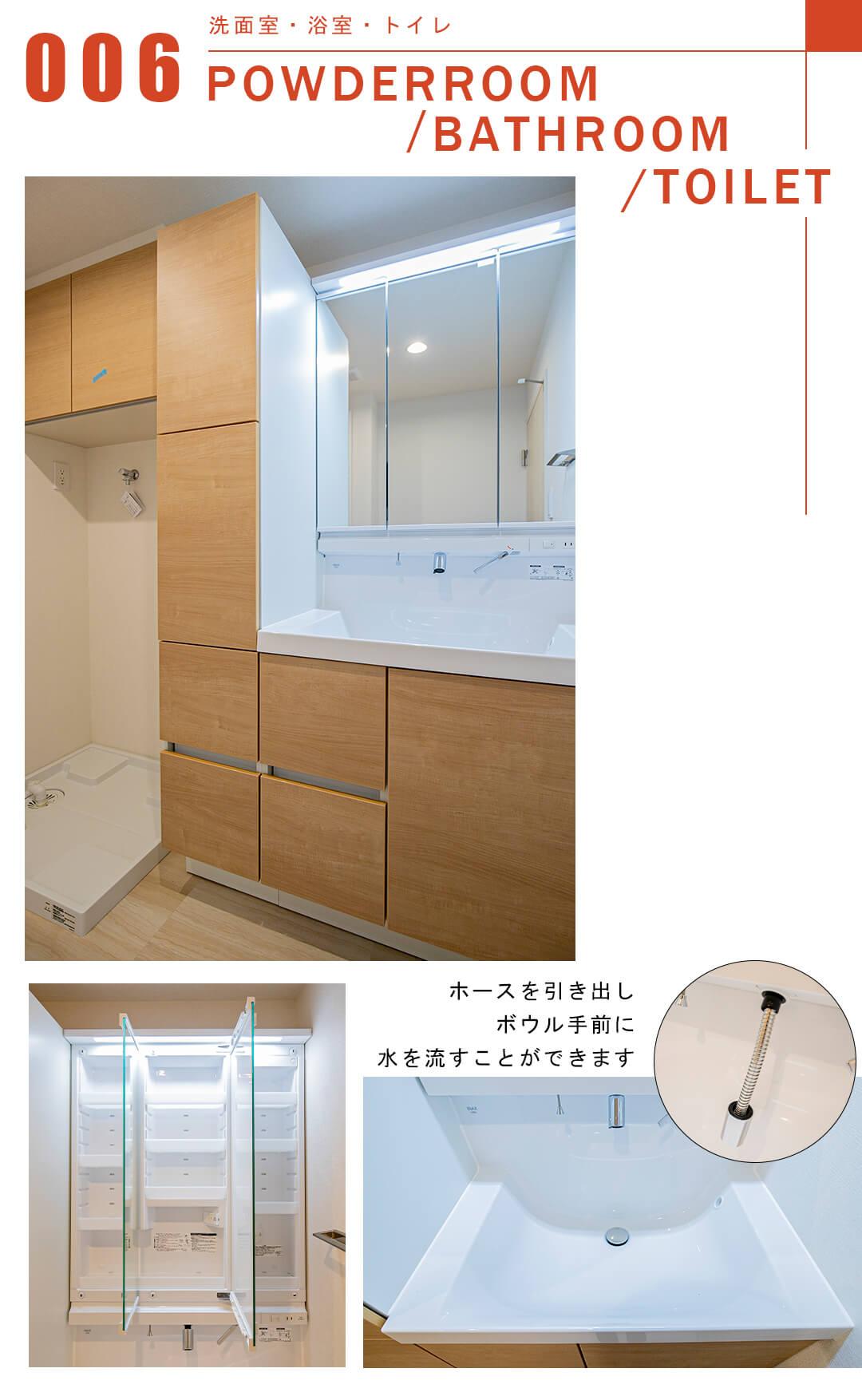 安藤坂東方マンションの洗面室
