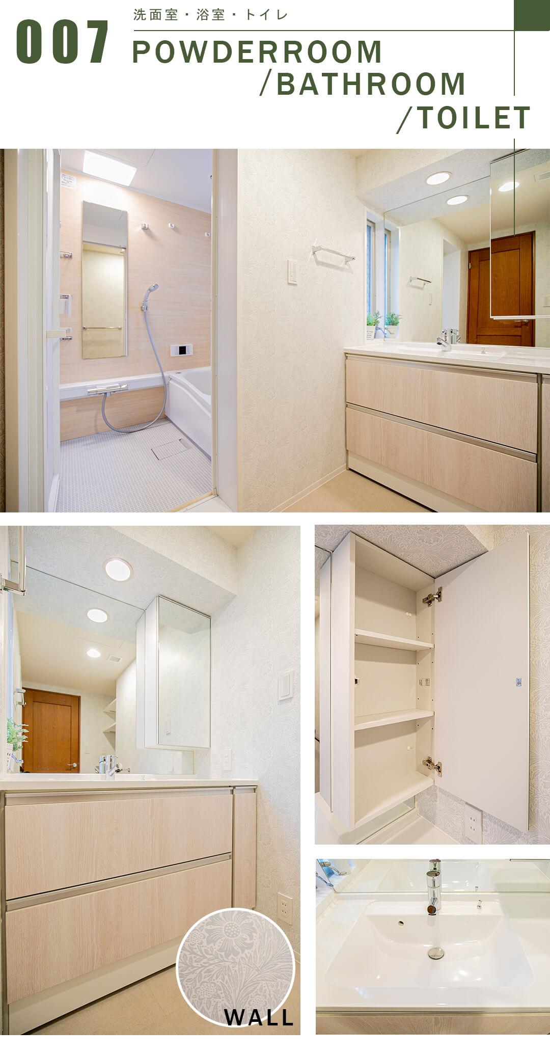 ハウス吉祥寺B館の洗面室