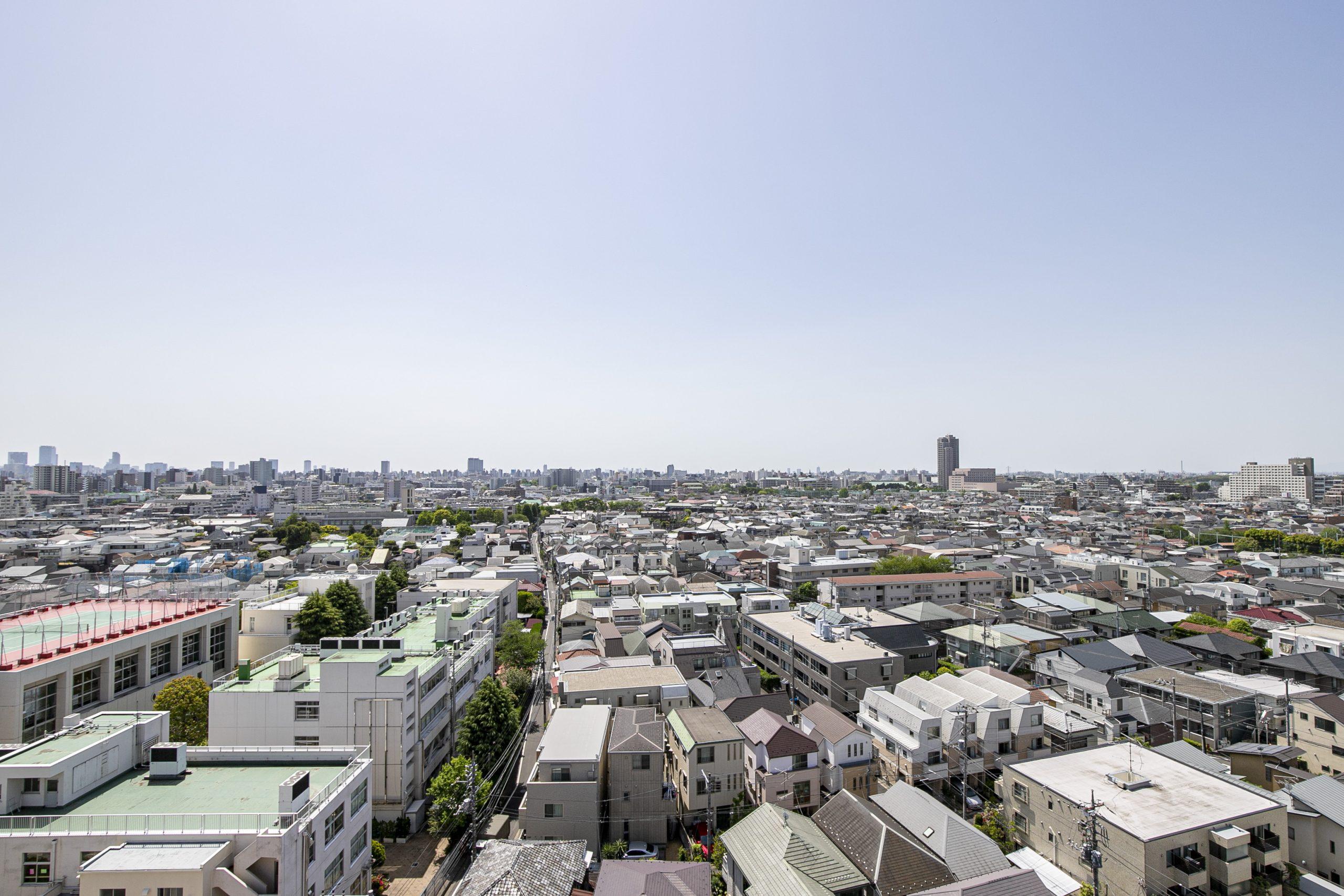 東高円寺 開放的な見晴らし