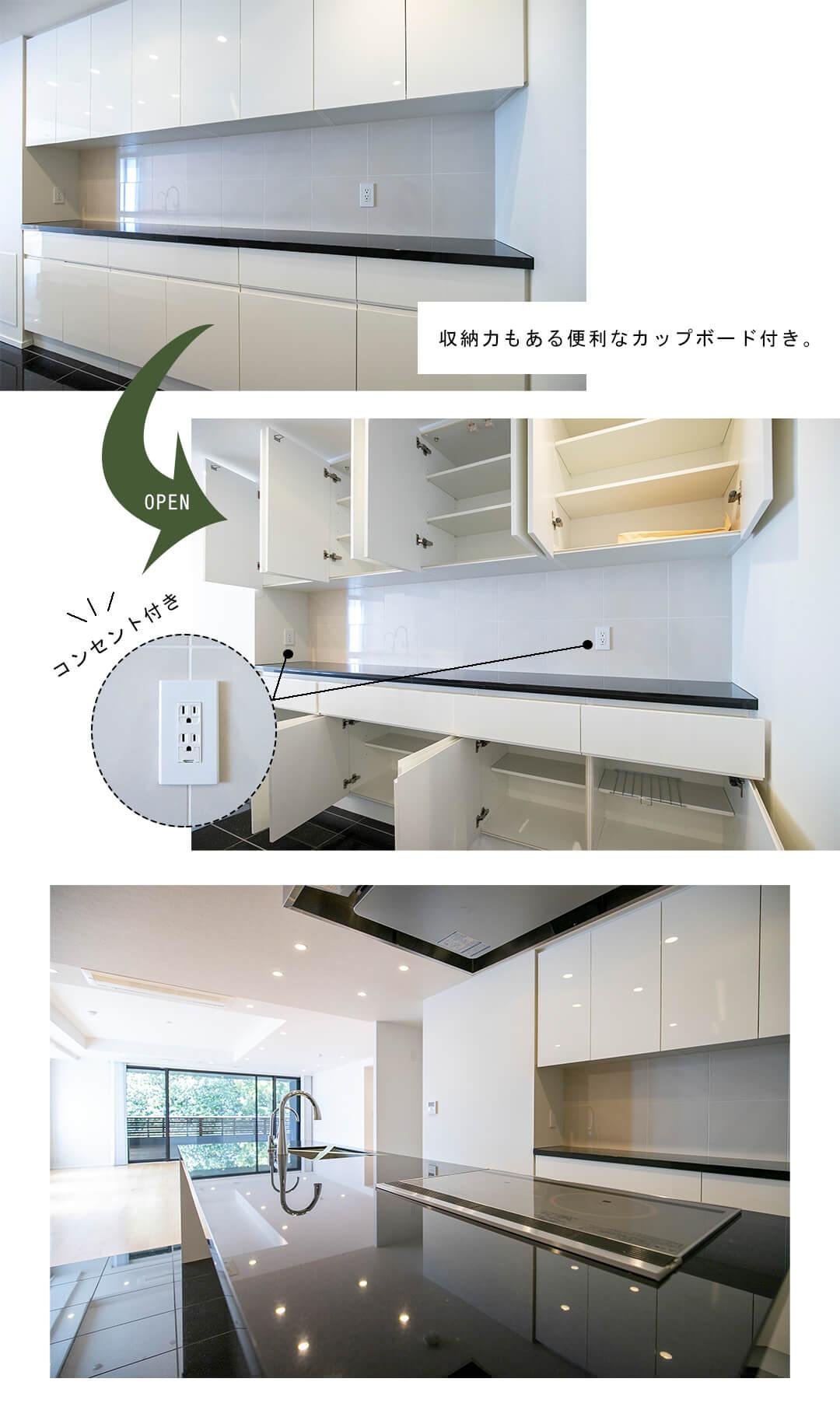 フォレセーヌ赤坂檜坂のキッチン