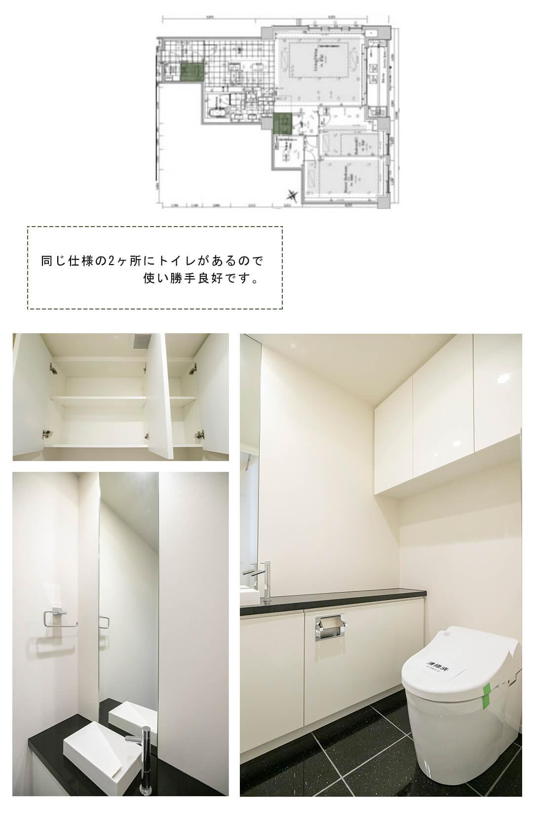 フォレセーヌ赤坂檜坂のトイレ
