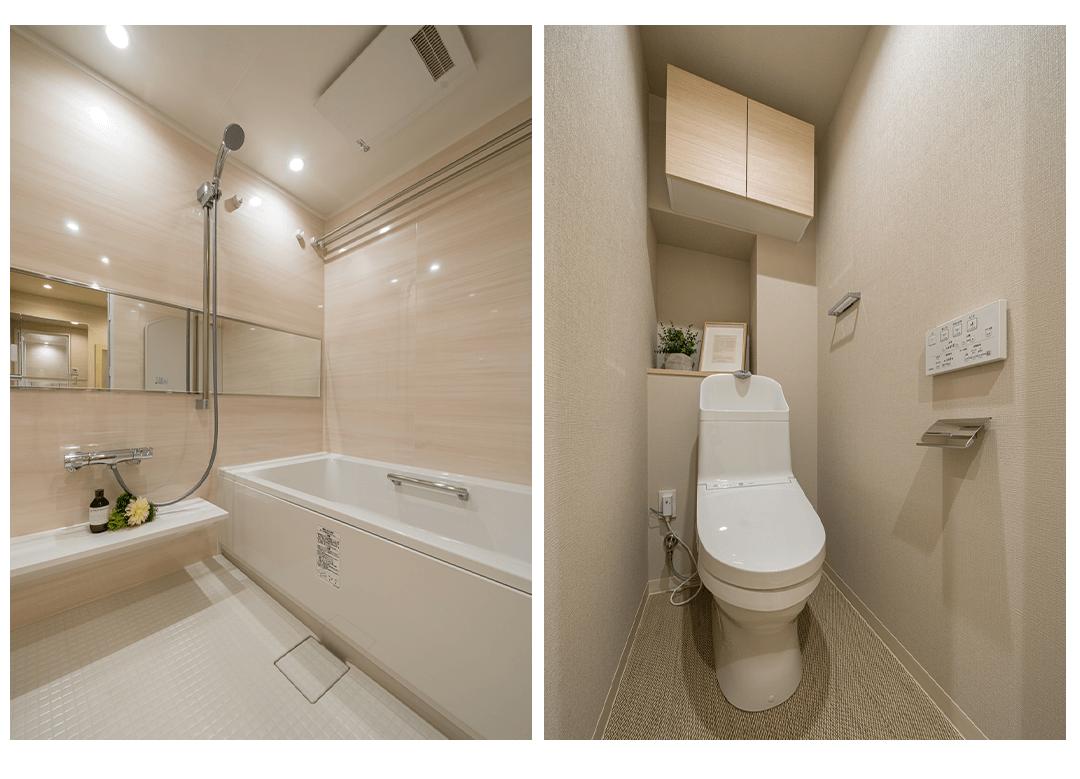 コスモ大島ロイヤルフォルムの浴室とトイレ