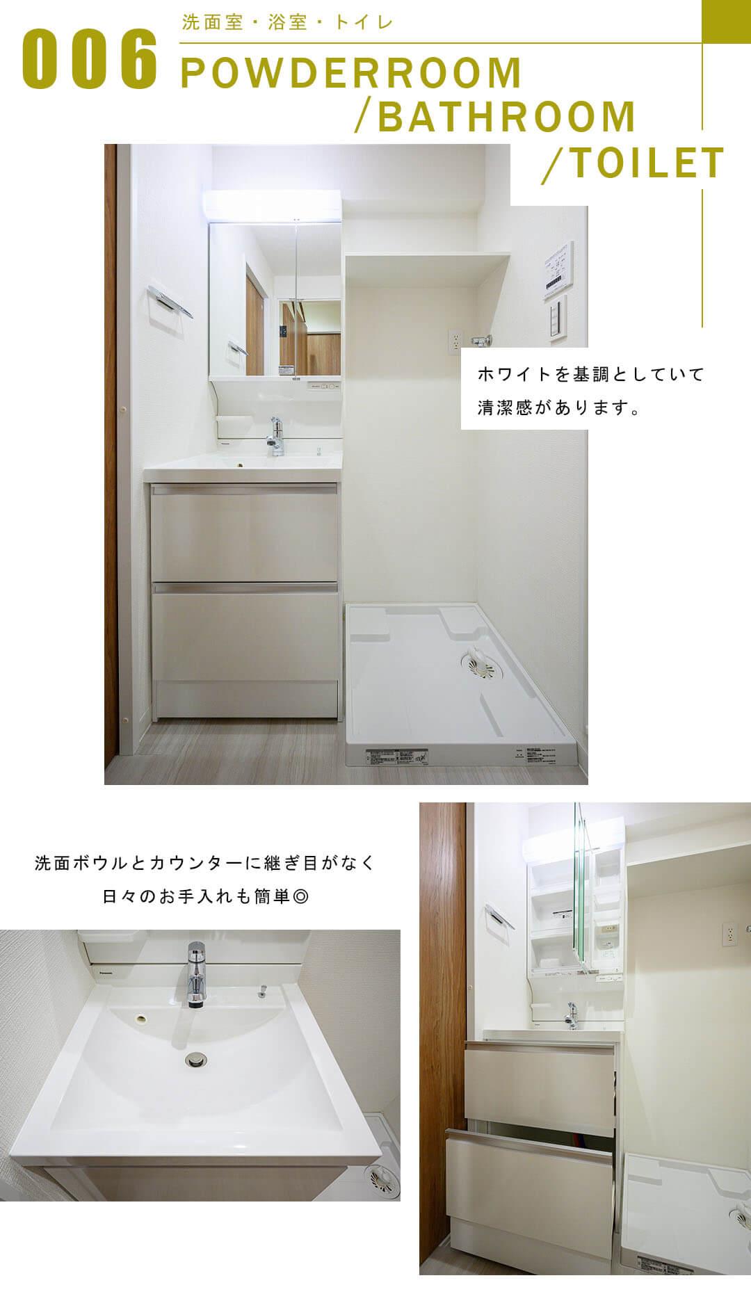 秀和第2田町レジデンスの洗面室