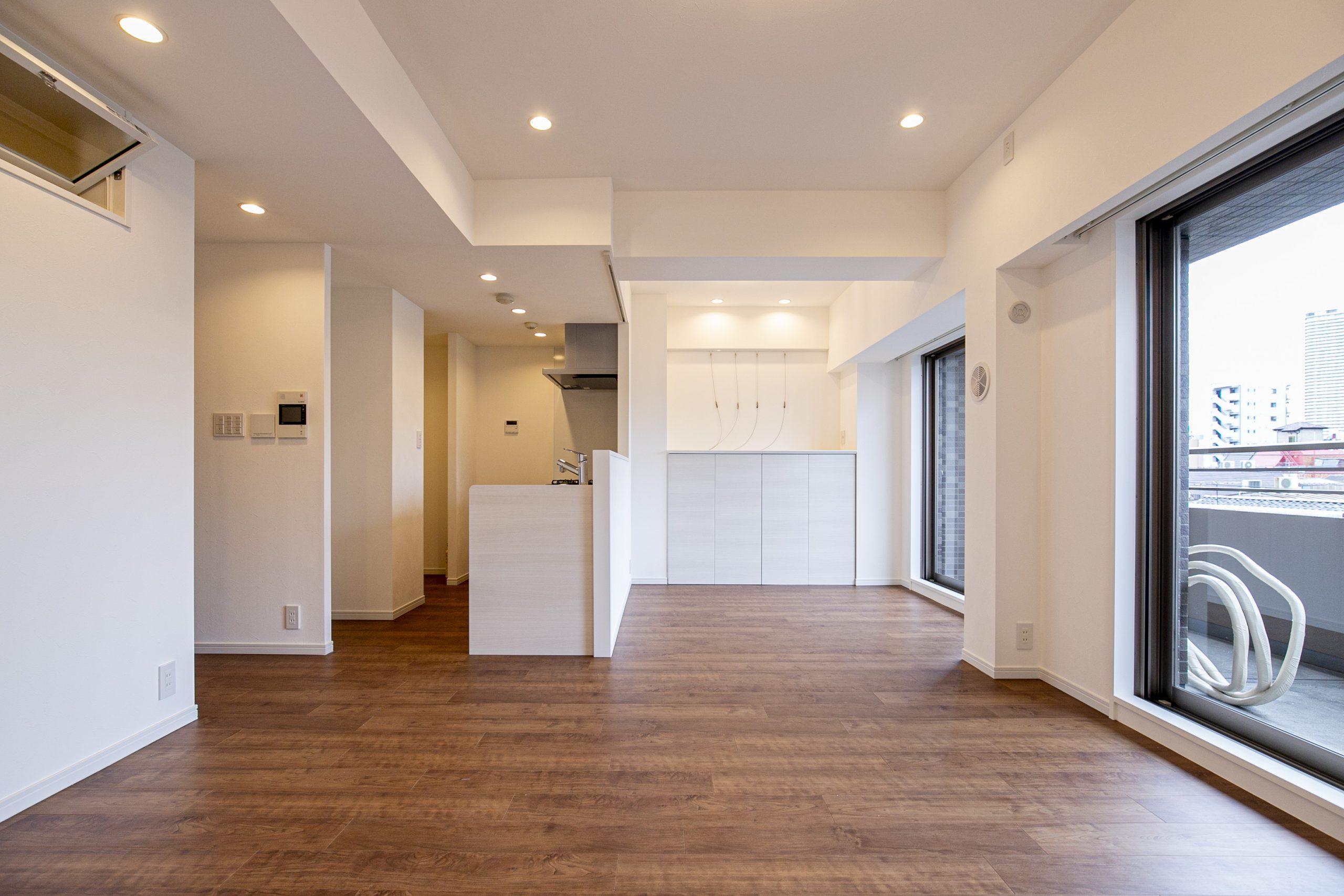 月島 洗面室~キッチン直結の便利な家事導線