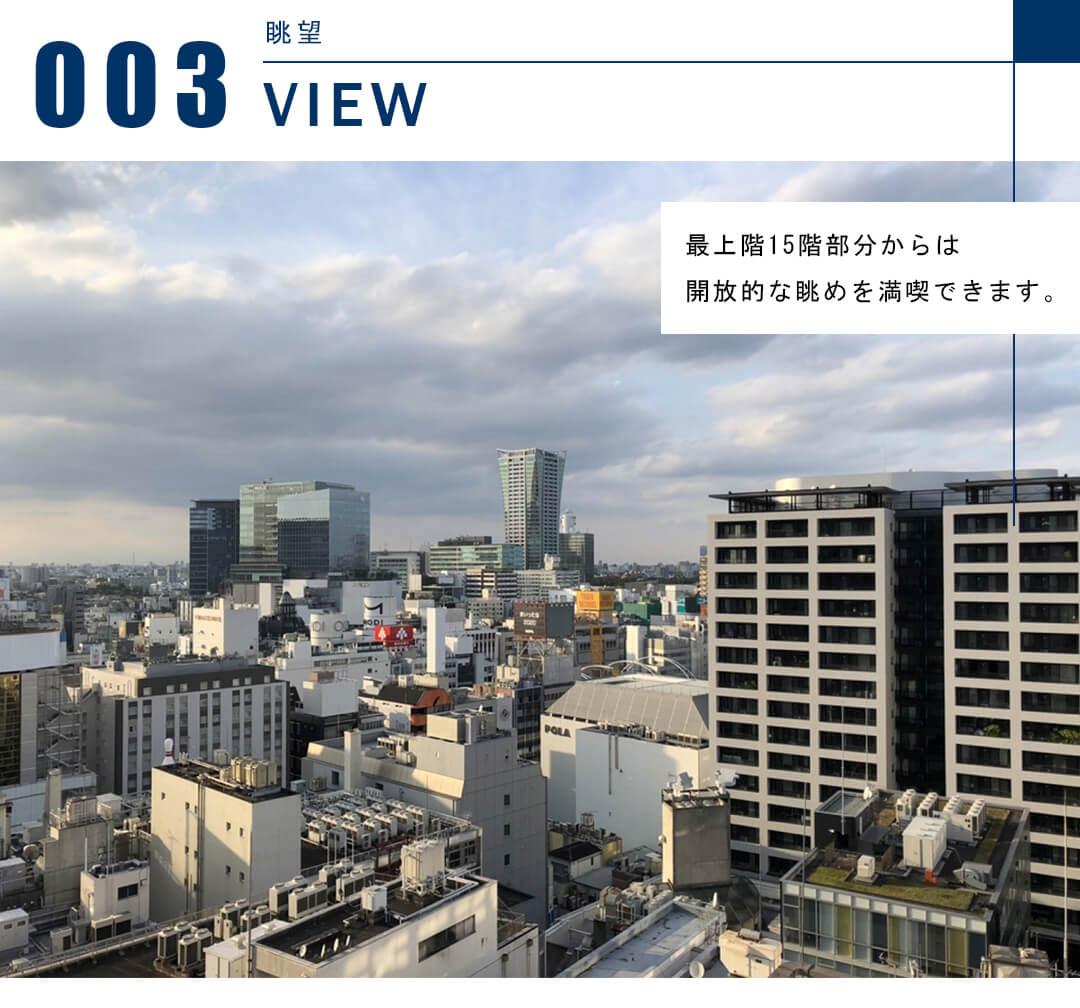 宮益坂ビルディング ザ・渋谷レジデンスの眺望