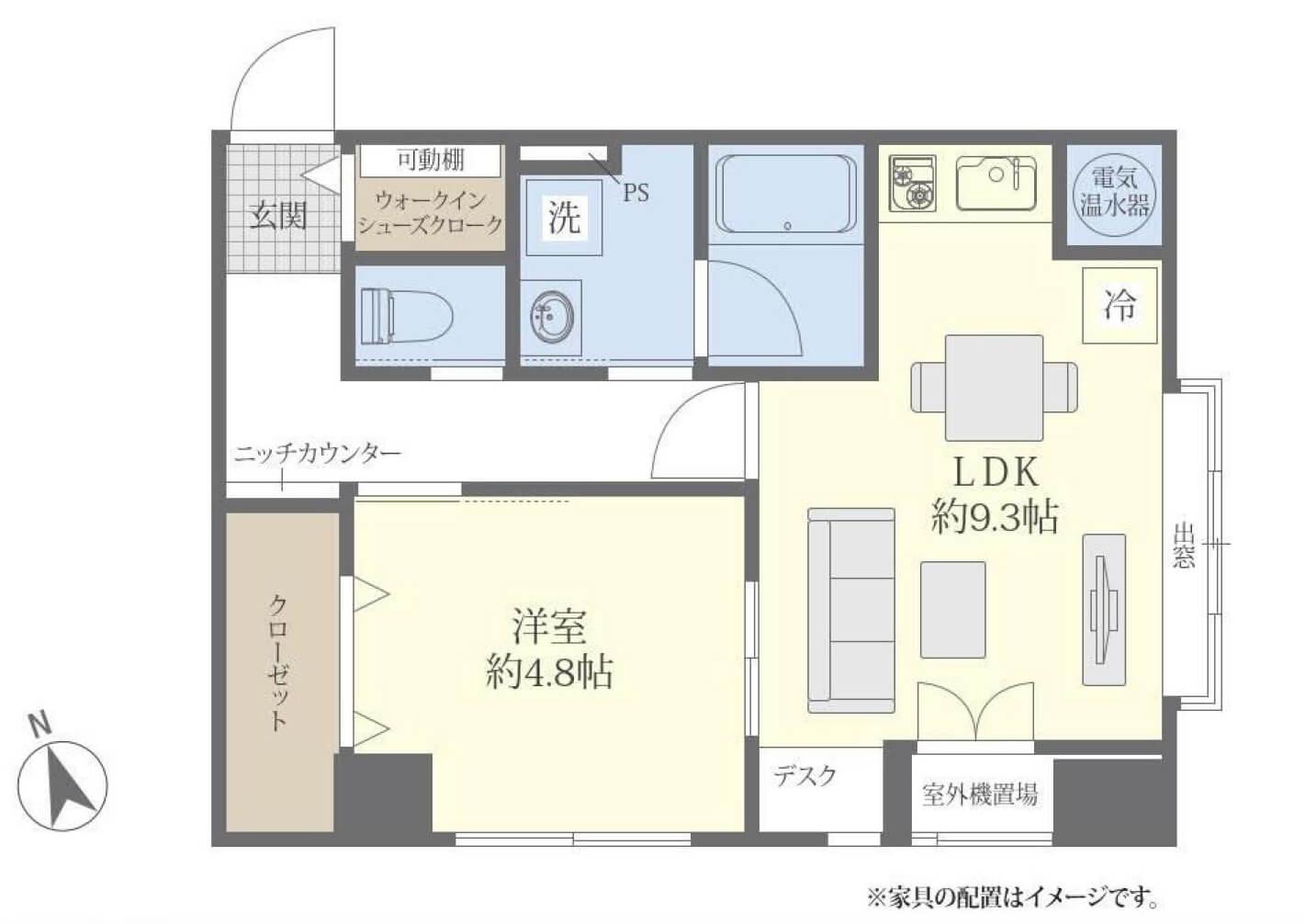 浜松町 都心で働くシングルに住み心地いい部屋 間取り図
