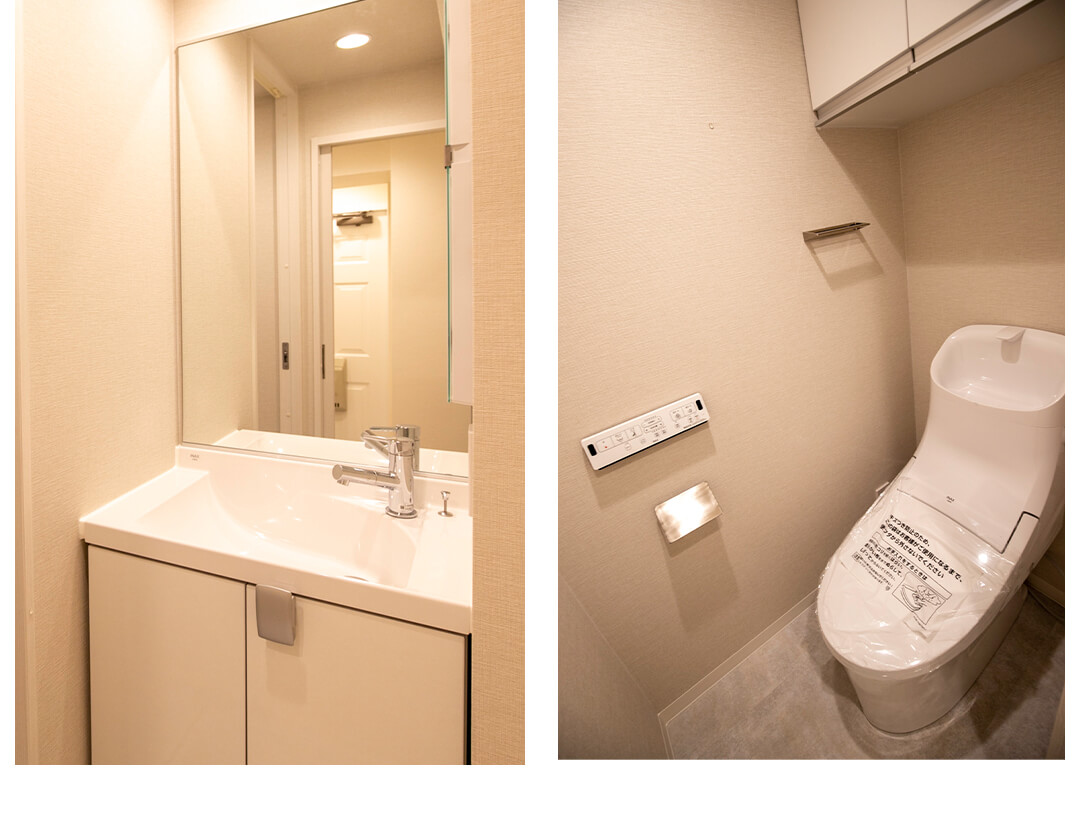 インペリアル赤坂フォーラムの洗面室とトイレ