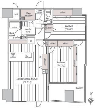 三軒茶屋  人気の街にある住み心地の良い部屋 間取り図