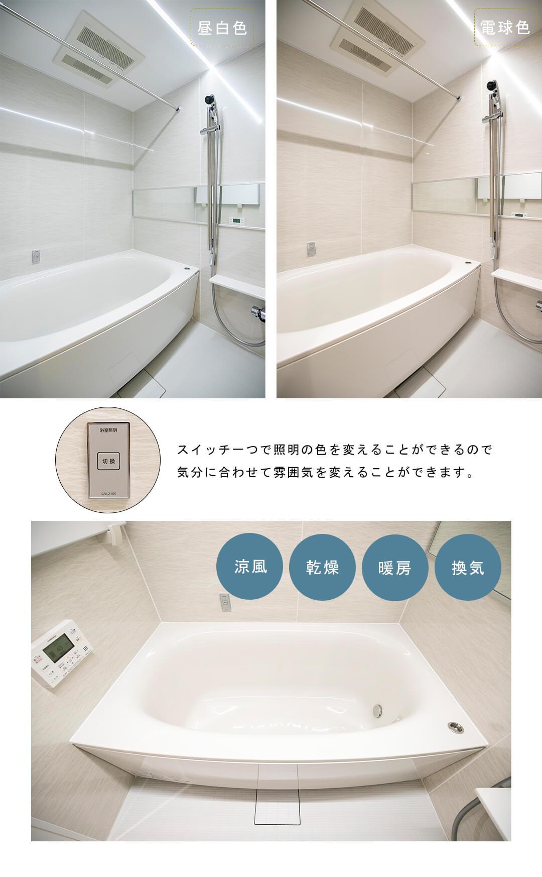 ブロードシティ東京の浴室
