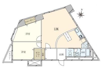 渋谷 他とは違う、インダストリアルな雰囲気の部屋 間取り図