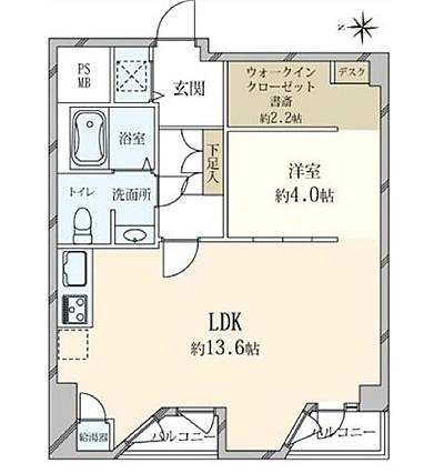 乃木坂 ミッドタウンに隣接の赤坂アドレス 間取り図