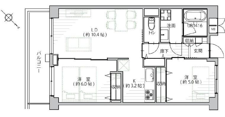 大崎 便利な立地にある最上階のお部屋 間取り図