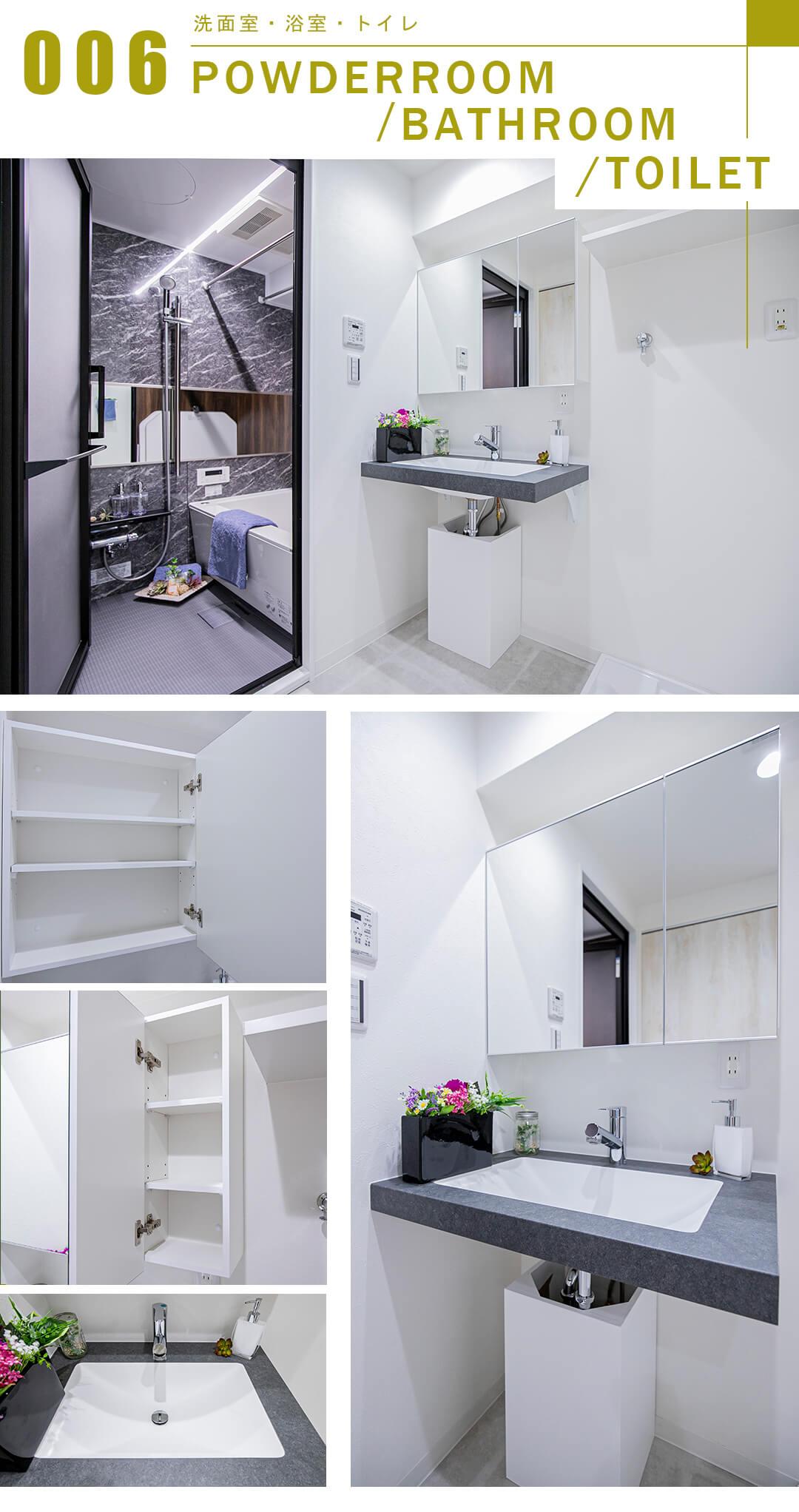 東建島津山南ハイツの洗面室