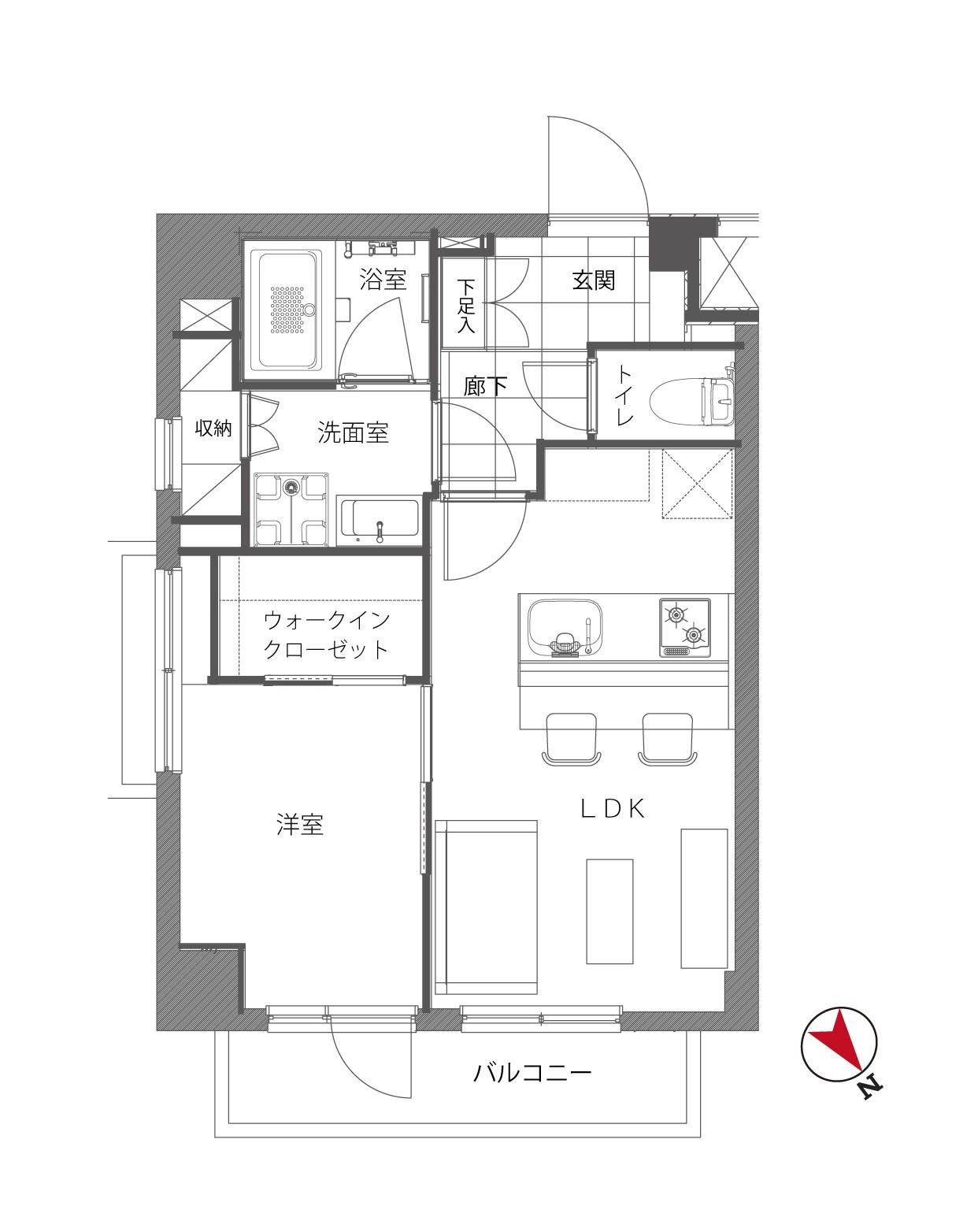 江戸川橋 駅から徒歩3分、3駅3路線が使える家 間取り図