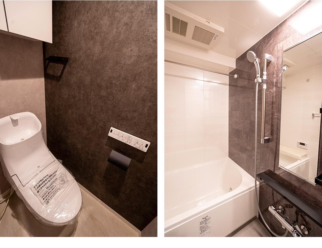 スカーラ渋谷松濤南のトイレと浴室