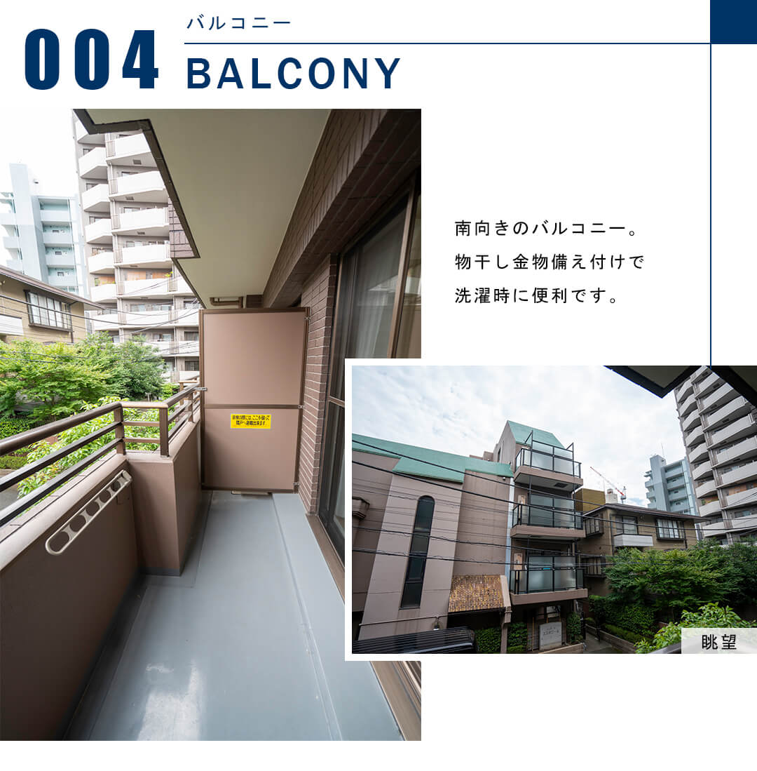 スカーラ渋谷松濤南のバルコニー