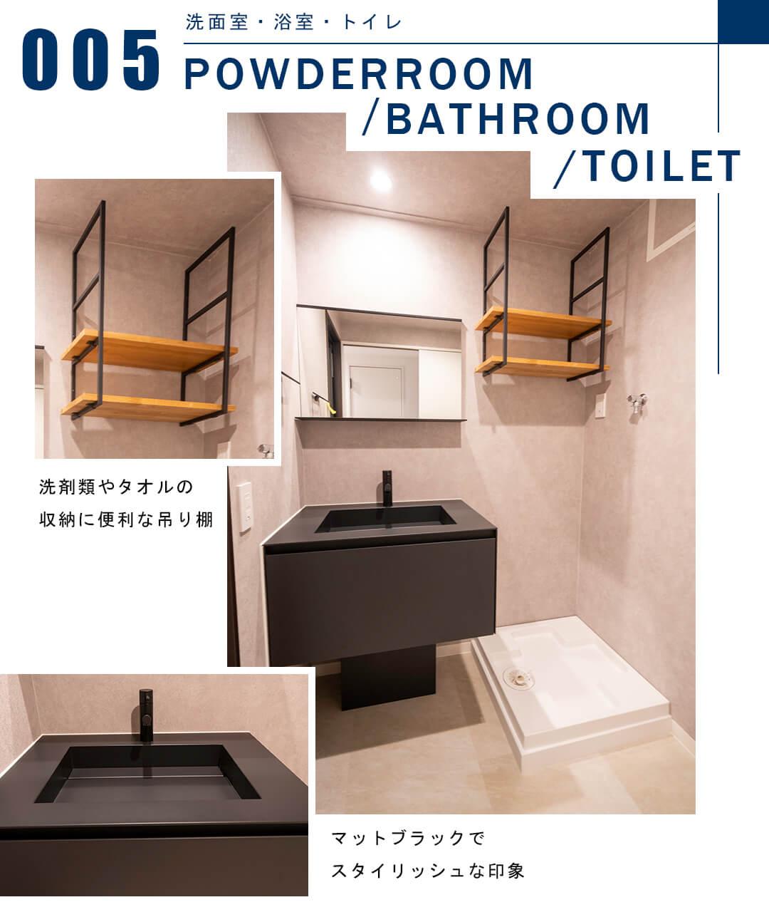 スカーラ渋谷松濤南の洗面室