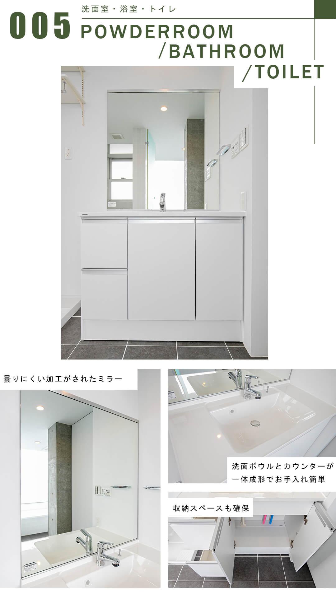 triplexの洗面室