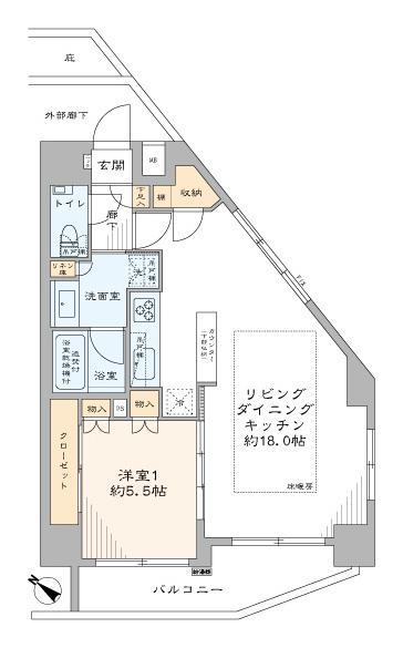 A-standard渋谷桜丘 開放的に、のびのびと 間取り図