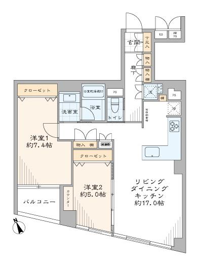 白金高輪 再開発が進む、人気の港区三田アドレス 間取り図
