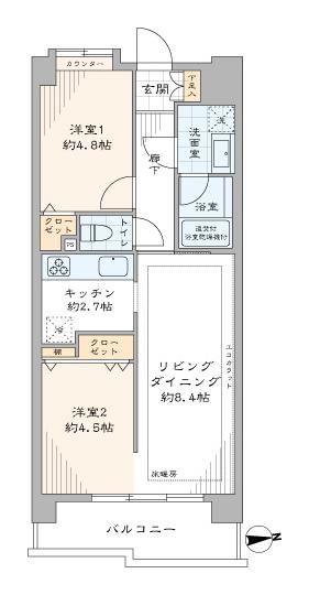 ライオンズマンション御茶ノ水 4駅5路線使える機能的な2LDK