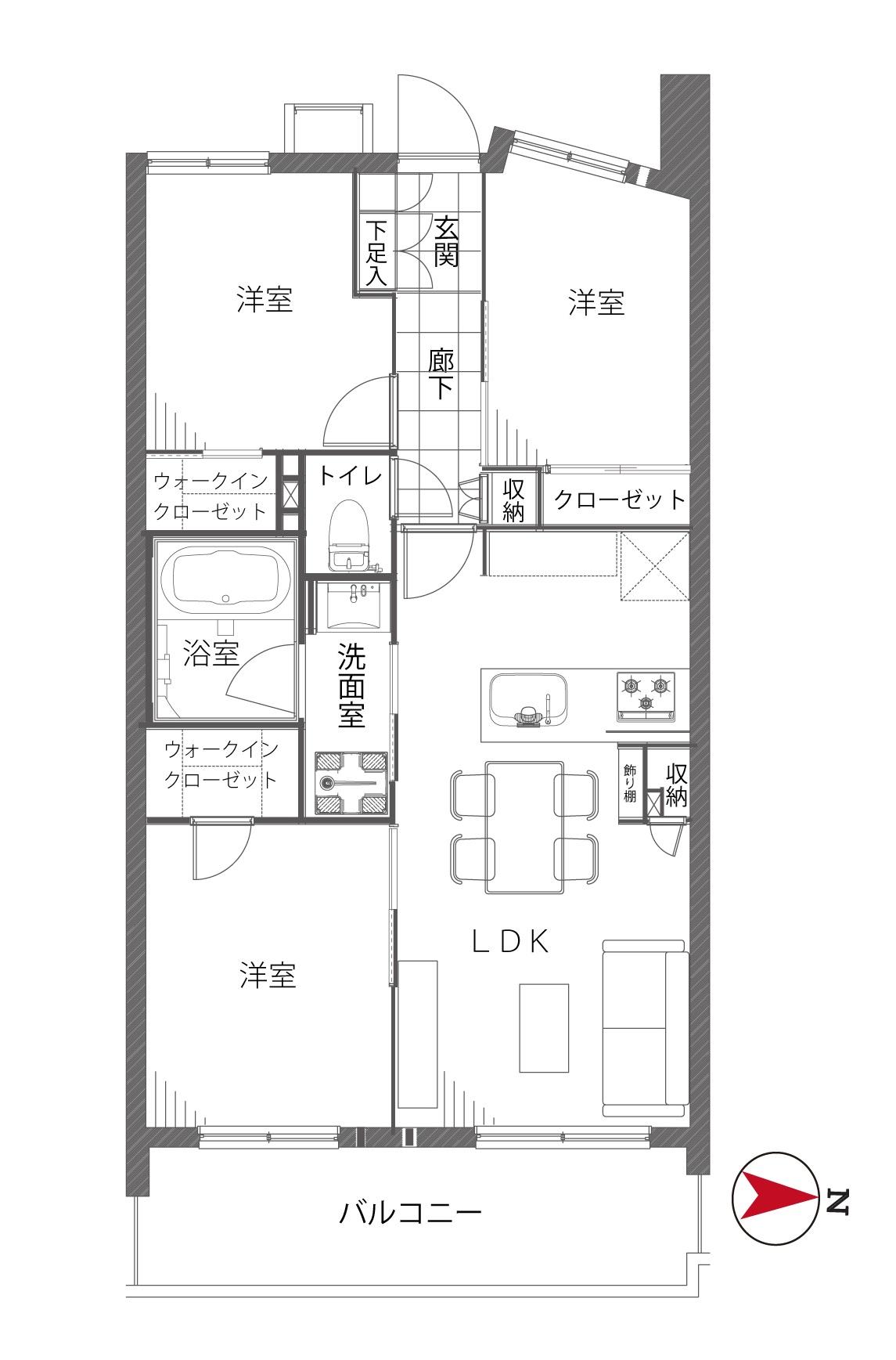 菊川 子育て世帯に住みよい暮らし 間取り図