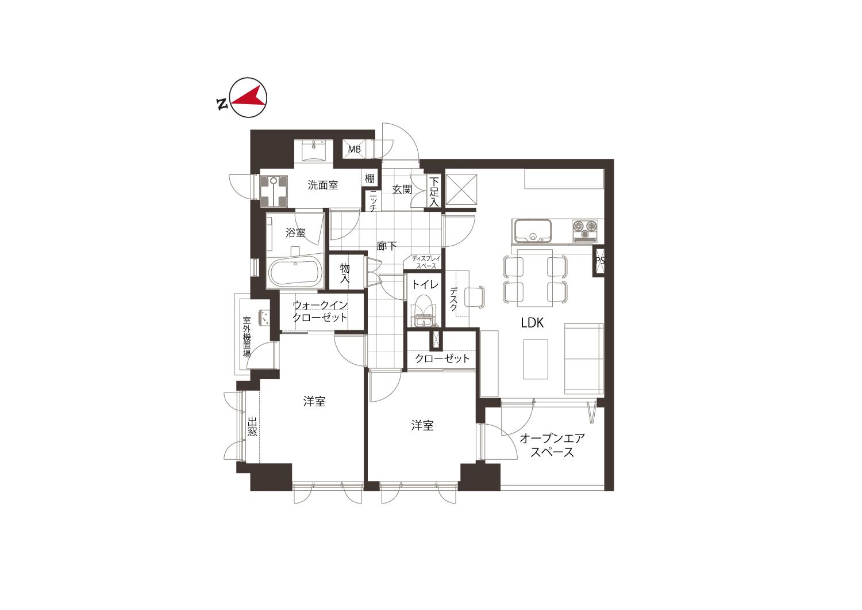 蔵前 生活空間にワークスペースを完備 間取り図