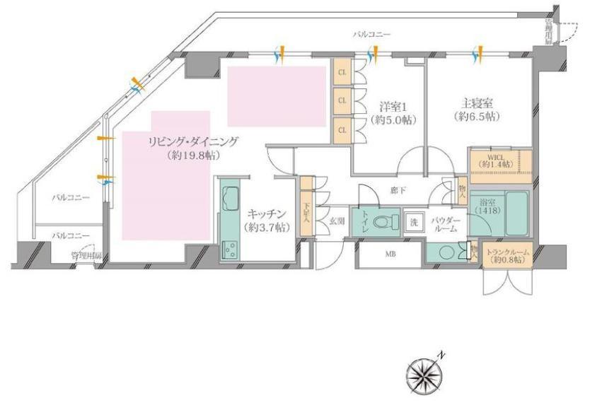 渋谷アインス 最上階で暮らす快適な日々 間取り図
