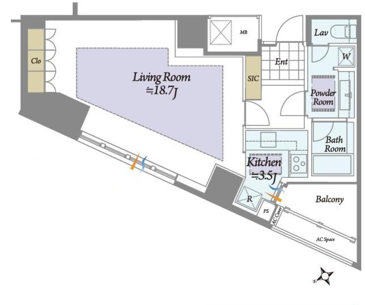 青山ザ・タワー 安心で快適なタワーマンションライフ 間取り図