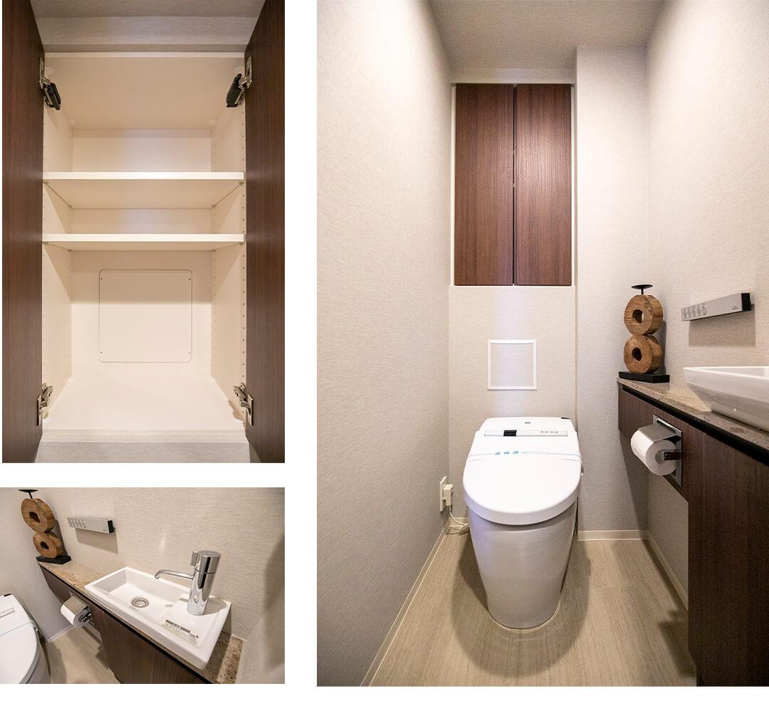 プラウド神楽坂のトイレ