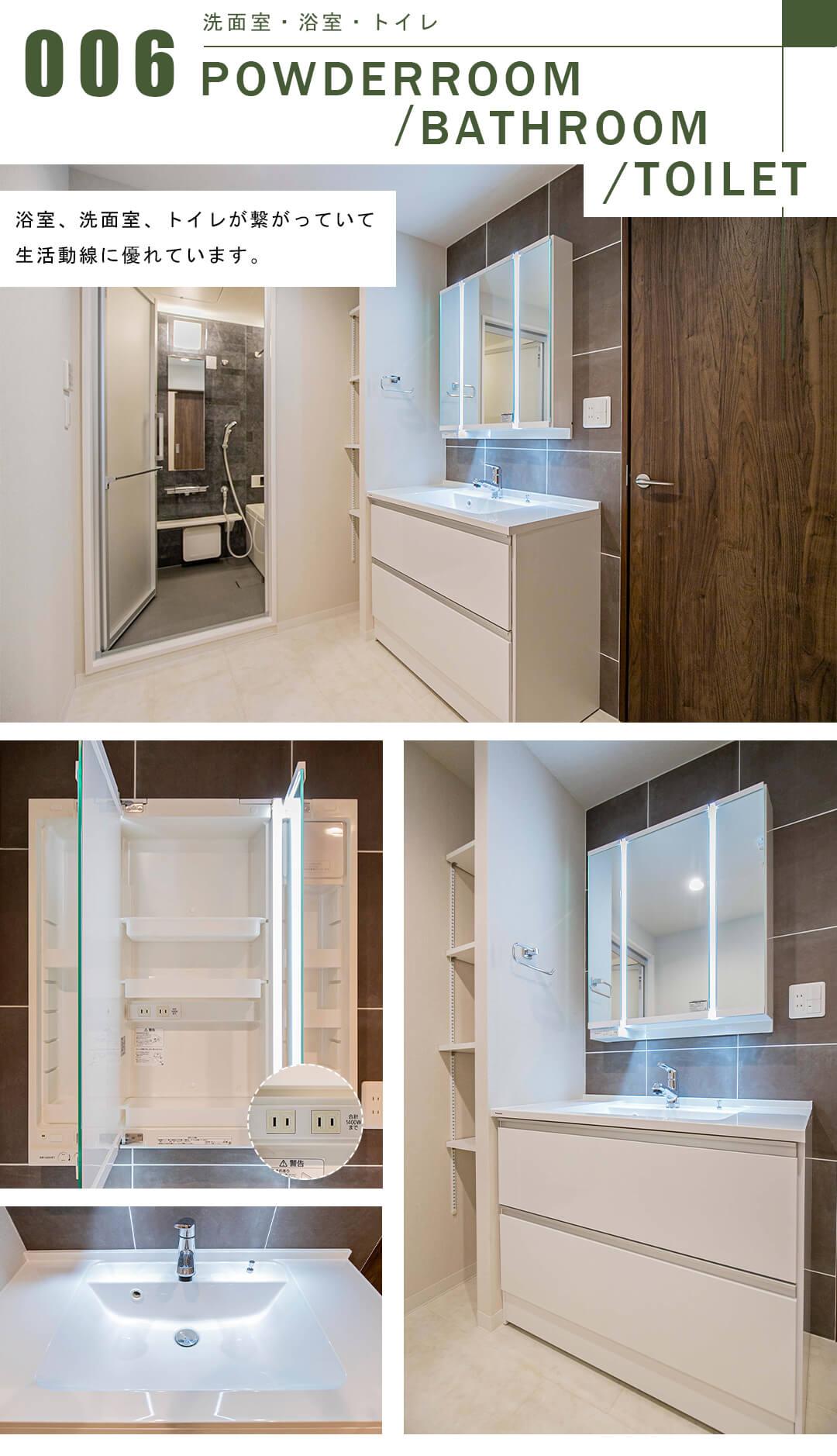 ニュー赤坂コーポラスの洗面室