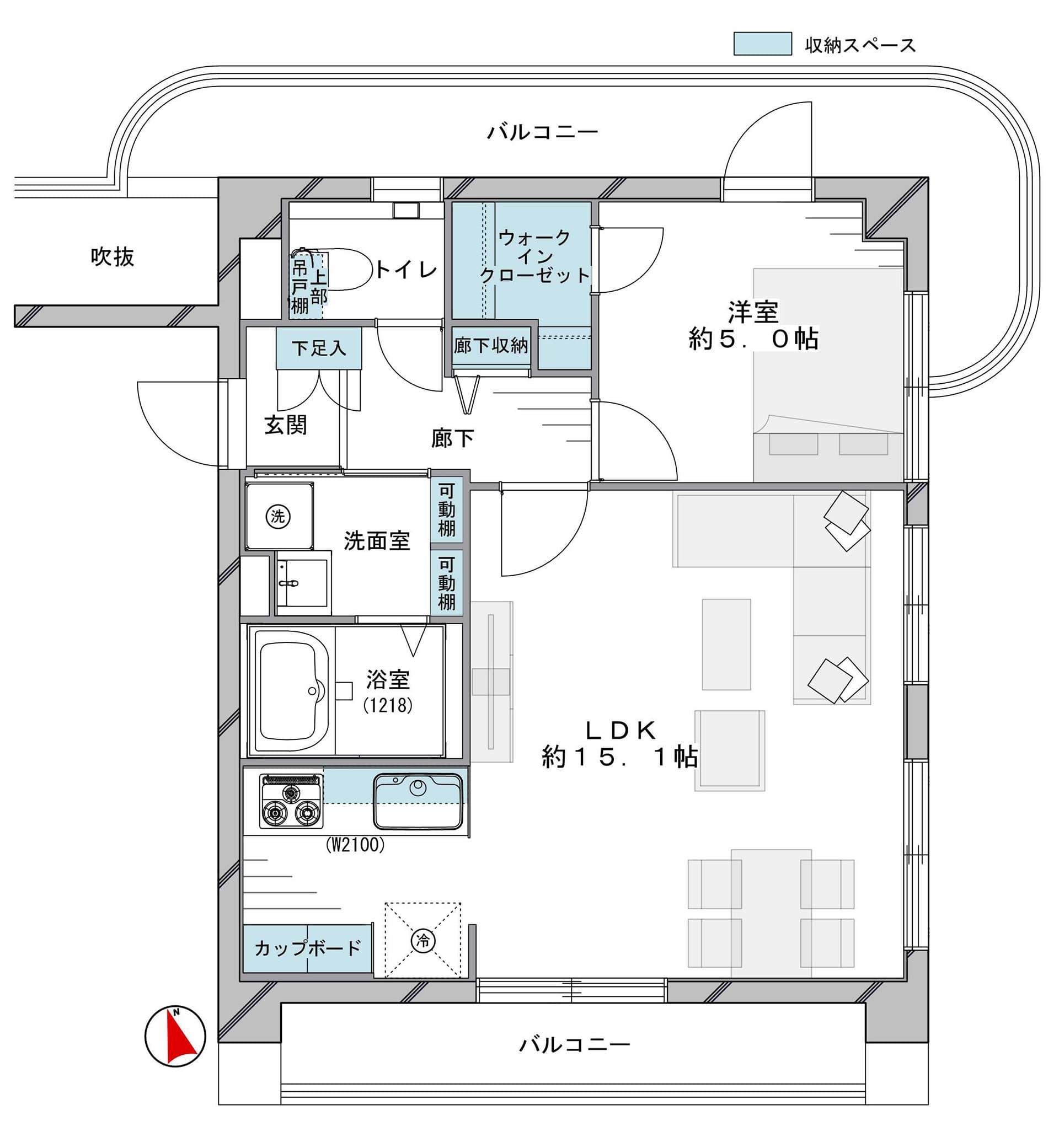 サンウッド目黒 2面バルコニー付きの最上階角部屋