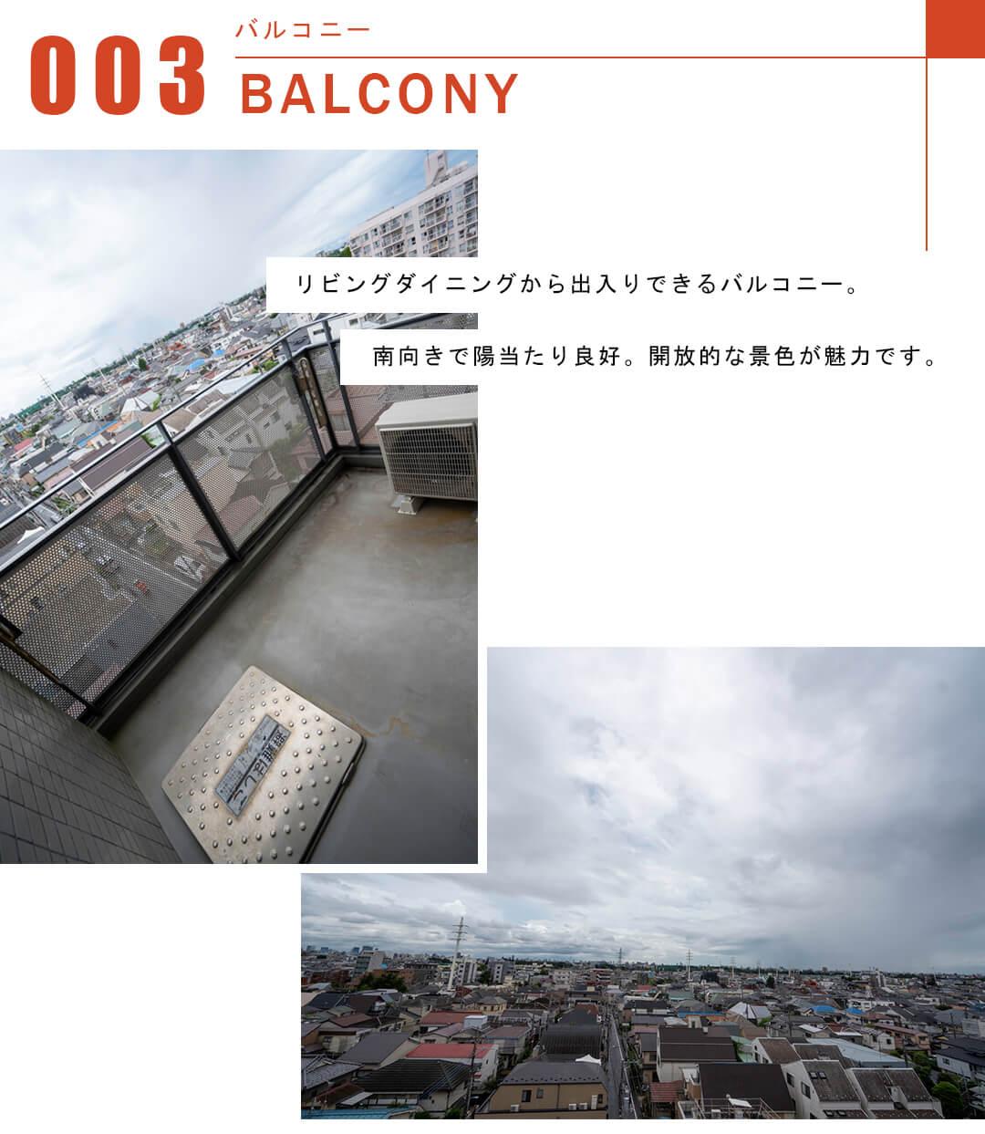 グランドメゾン高円寺のバルコニー