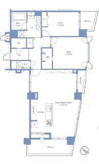 ベルクレール神宮の杜 都心の利便性と緑豊かな住環境を享受する 間取り図
