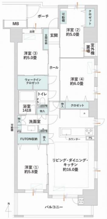 東京ビューマークス 住む人のことを考えられた住まい 間取り図