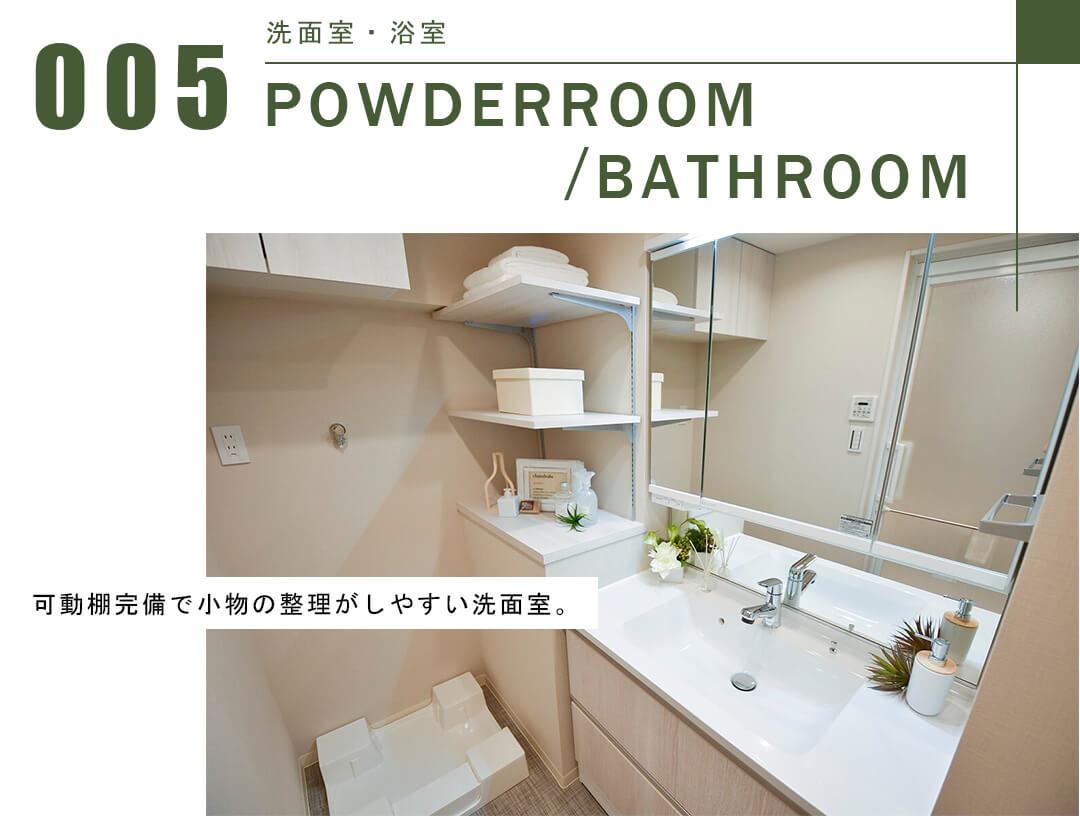 玉川スカイハイツの洗面室