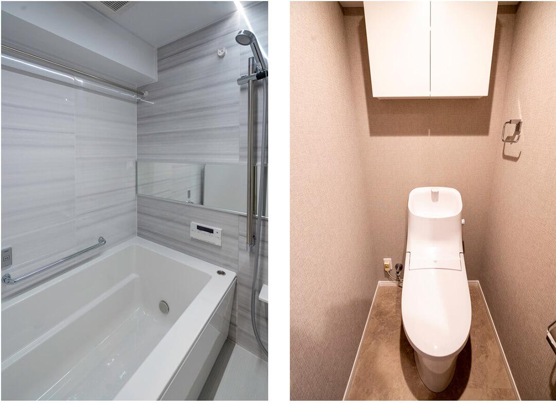 恒陽サンクレスト築地の浴室・トイレ