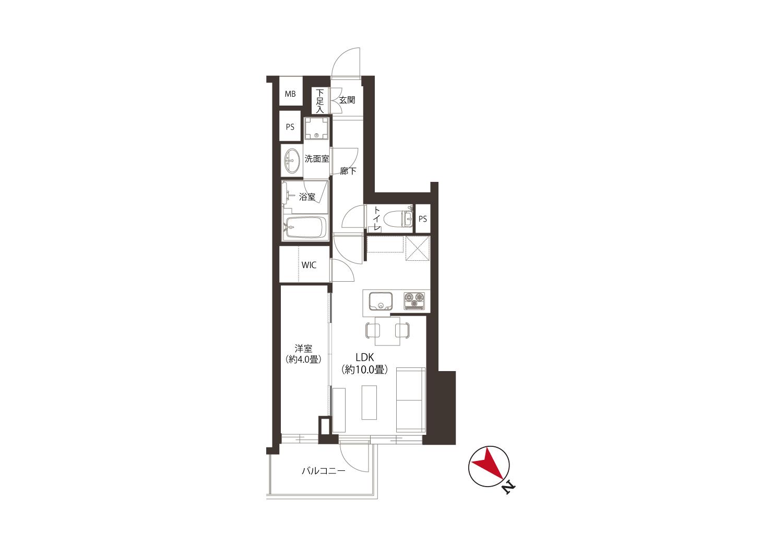 オープンレジデンシア六義園 山手プレイス 令和築、洗練された美しい佇まい 間取り図