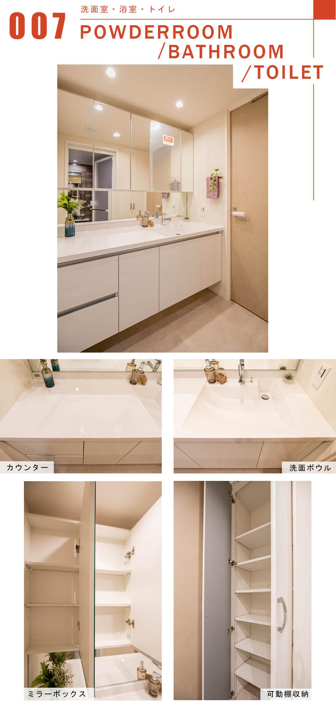 中野坂上不二ハイツの洗面室