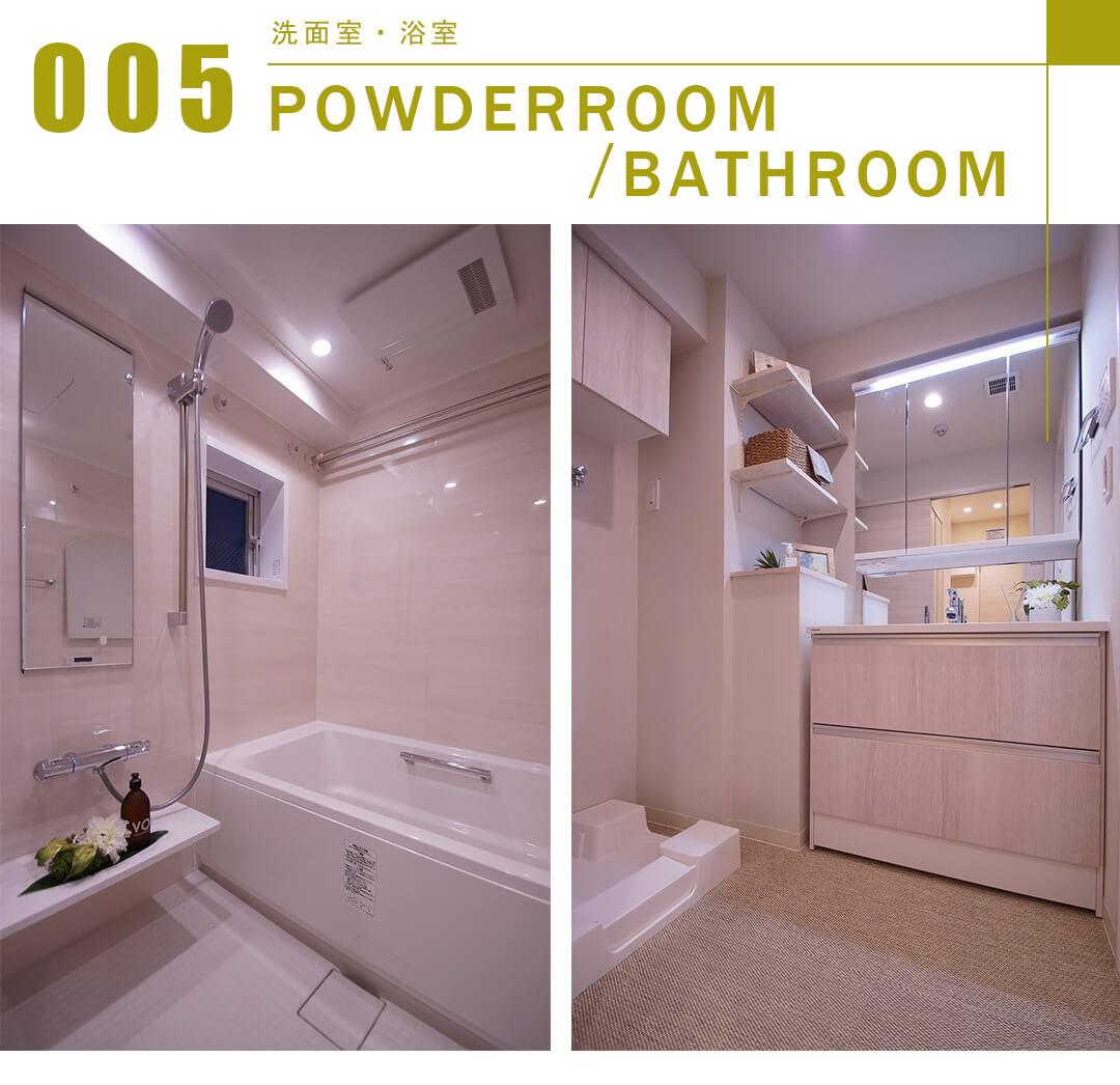 アスコットパーク日本橋浜町の洗面室と浴室