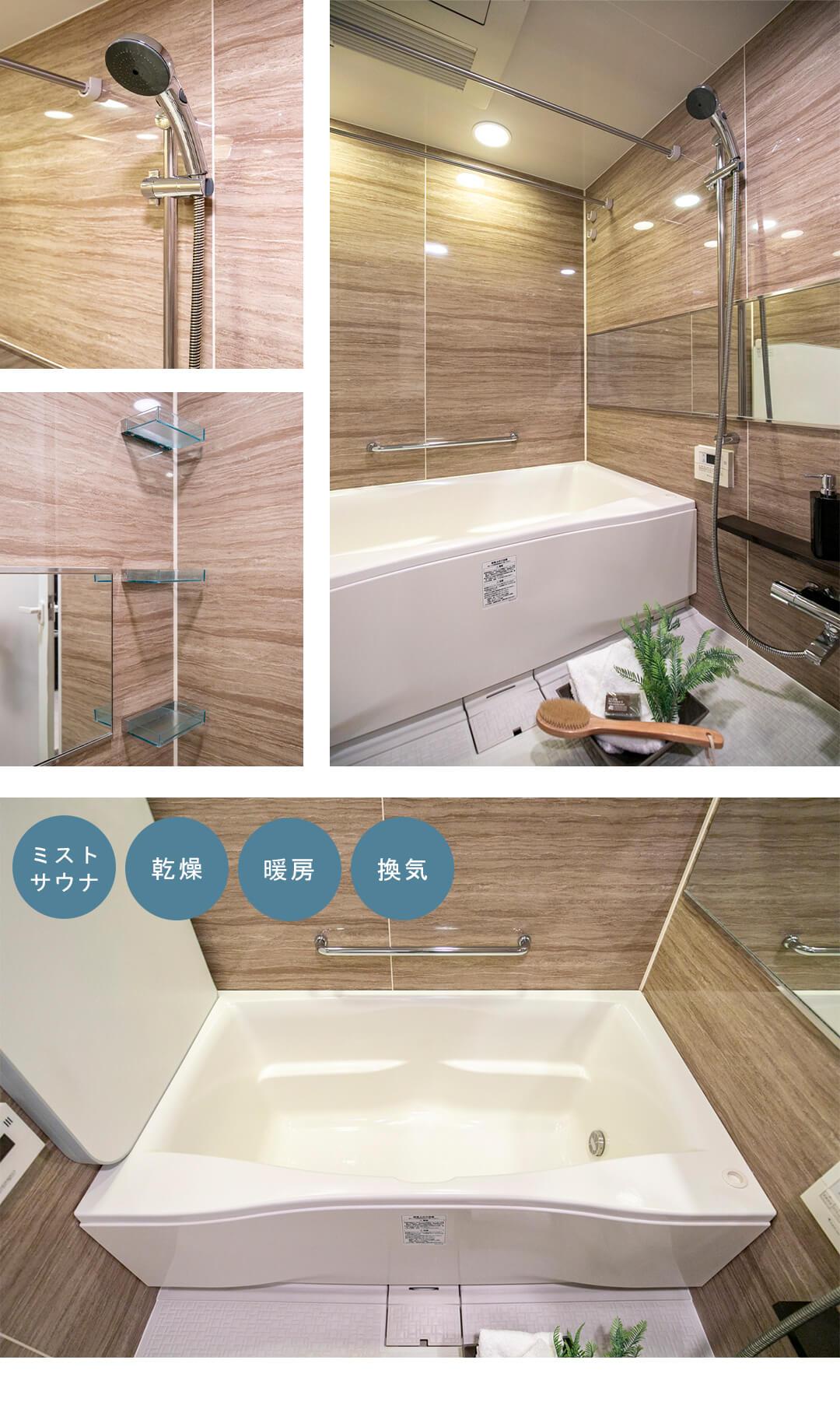 ルフォン白金台ザ・タワーレジデンスの浴室