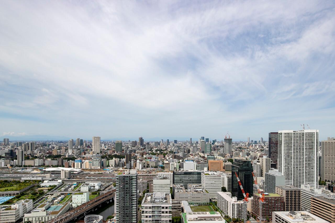 芝浦アイランドケープタワー 晴れた日には富士山も
