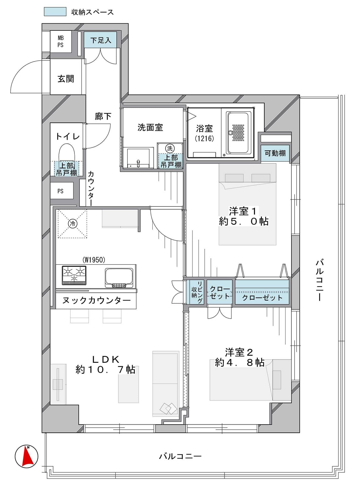 西早稲田 4駅5路線が利用可能で交通アクセスが良い立地 間取り図